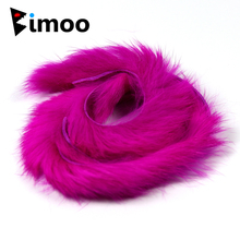 Bimoo 2pcs Rabbit Fur Hare Zonker Strips for Fly Tying Material Streamer Fishing Flies Making 5mm Wide цена и фото