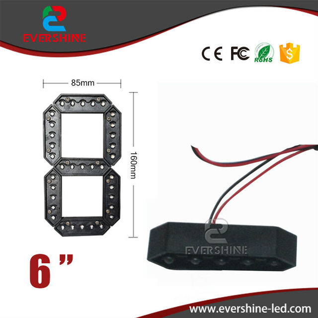 "6"" Red Color 7 Seven Segment LED Number Module Gas Price LED Display Signs Diesel Price Digital Module LED Outdoor"