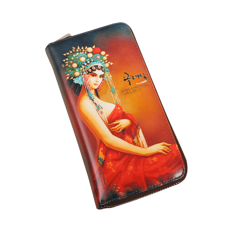 ФОТО Women Fashion Printing Wallets Cow Leather Purse Ethnic Feather Coin Pocket Genuine Leather Wallet Card Holder Money Bag Case