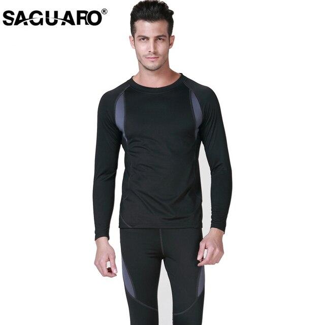 Saguaro新しい男性熱下着セット2017冬ホットドライ技術弾性男性女性サーモ下着スーツ暖かいロングジョンズ