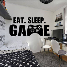 Gamer Wall Decor Playstation Controller Decal eat sleep game decor video wall decal Customized For Kids BedroomA1-002