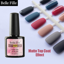 Belle Fille UV Nail Gel Needed Matte Top Coat Transparent Natural Resin Nail Gel Polish permanent Nail primer Bulider