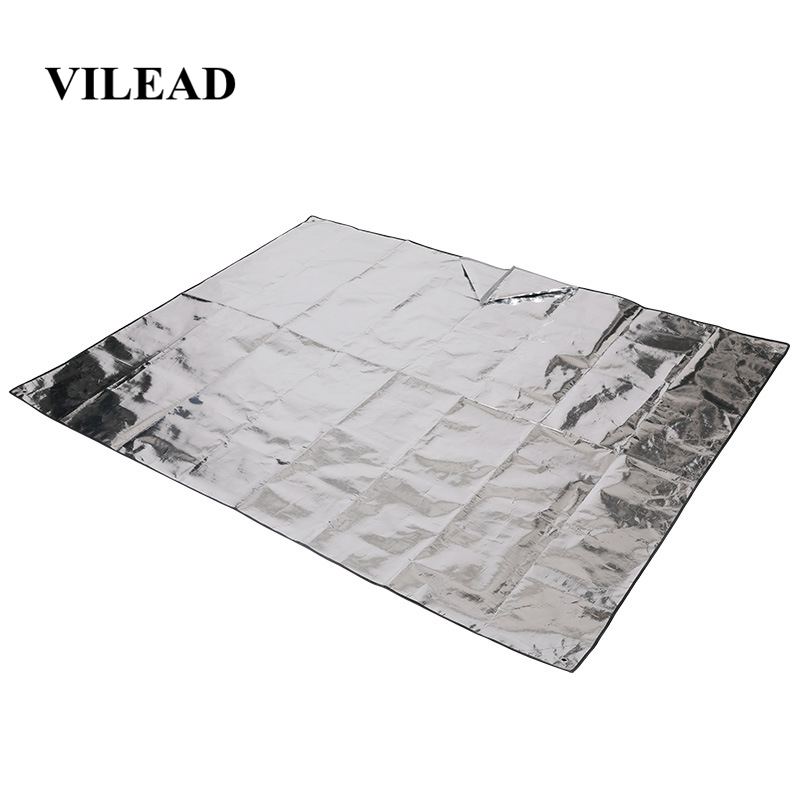 Vilead 200*150 Cm Camping Mat Insulating Mylar First Aid Blanket Outdoor Survival Waterproof Camping Mat For Tent Sun Shelter