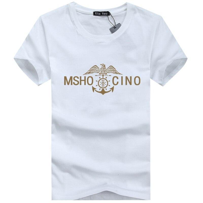 S-5XL casual short sleeve o-neck letter printed cotton t shirt men brand 2017 white black tee shirt mens tshirt camisetas F1698
