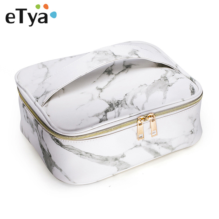 ETya Brand Women Cosmetic Bag Multifunction Organizer Travel Portable Makeup Bag Travel Necessity Beauty Case Storage Wash Pouch