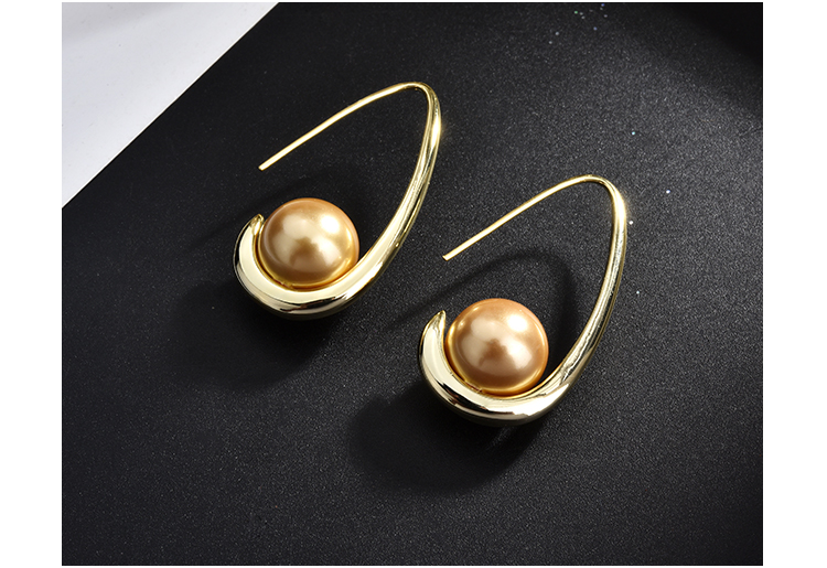 fashion pearl gold stud drop earrings 01 (4)
