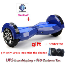 Gyroscooter 8 zoll Bluetooth Hoverboard Selbst Balance elektro-scooter skateboard skywalker unruh LED-licht schwebebrett