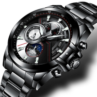 New Luxury Brand Men Watches BINGER Watch Men Moon Phase Luminous Watches Male Waterproof Mechanical Wristwatches B1189 5