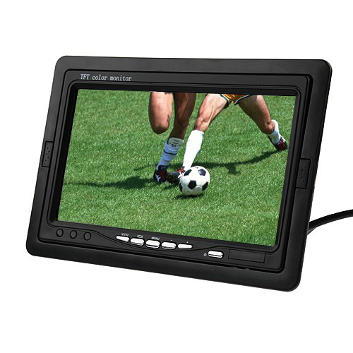 XYCING 7 inch TFT LCD Color Car Rear View Monitor Parking Rearview Monitor 2 Video Input Headrest Monitor