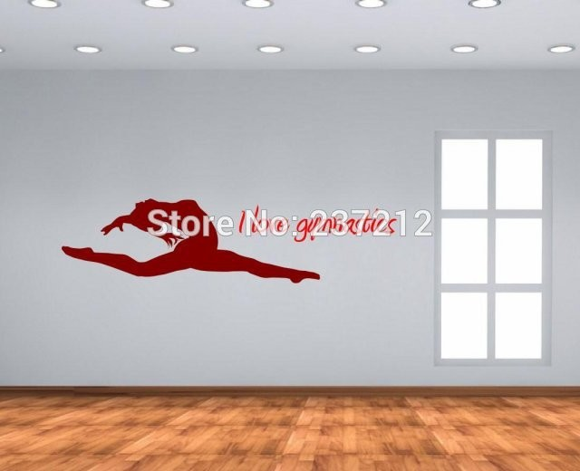 I-love-gymnastics-dance-room-gymnastics-room-beautiful-wall-stickers-decals-Free-shipping (1)