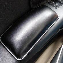 Внутренняя подушка, наколенник, мягкое автомобильное сиденье, кожаная универсальная подушка для поддержки бедра, аксессуары, пена с памятью, 18X8,2 см
