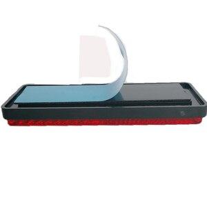 Image 3 - 2 PCS אדום רפלקטור rectangula משקף רצועה לטריילר משאית משאית אוטובוס RV קרוון מחנה אופני עצמי דבק אביזרי רכב