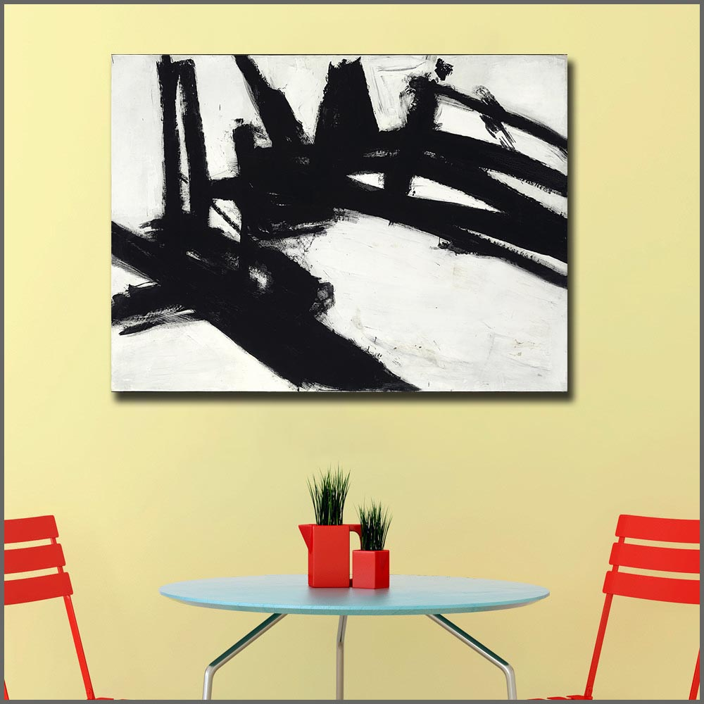 Large Size Printing Franz Kline Untitled 1957 Oil Painting Art Home Decor Living Room Modern Canvas Print Paintings No Frames