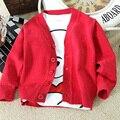 Escola uniforme crianças Cardigan para meninas e meninos crianças camisola Outerwear casaco menina / menino jaquetas Schoolwear de