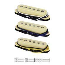 Flor – ensemble de pièces de guitare, Vintage Alnico 5, simple bobine, manche/milieu/pont, 50/50/52mm, jaune pour FD Strat