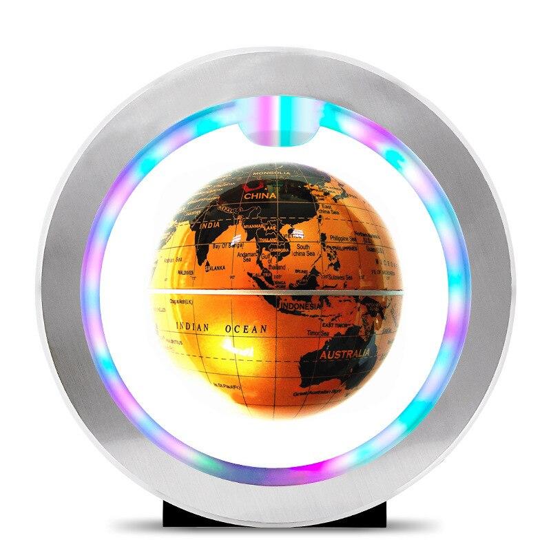FENGLAIYI ronde 4 pouces Anti-gravité lévitation flotteur carte du monde LED veilleuse cadeaux pour enfants décoration intérieure lampe de bureau