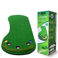 2016 New Arrival Big Feet Golf Trainer Mat Artificial Grass Carpet Golf Putter Trainer Professional Practice Golf Putting Green