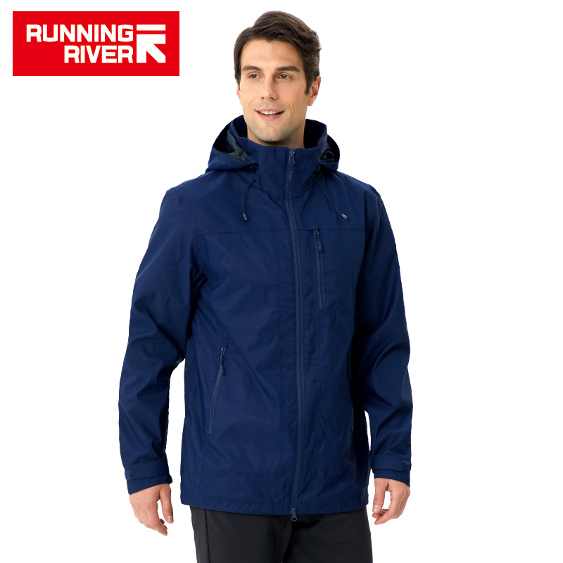 RUNNING RIVER Brand Men Hiking Jacket 4 Colors Size 46 56 High Quality Waterproof Windbreaker For