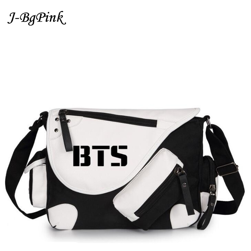 Bangtan Boys BTS mochilas kpop canvas Messenger bag BTS school bag boys vintage bagpack women shoulder bags cute girls bts kpop pu kpop bangtan boys schoolbag women bookbag shoulder bts exo xxoo got7 b a p bigbang tourism student canvas