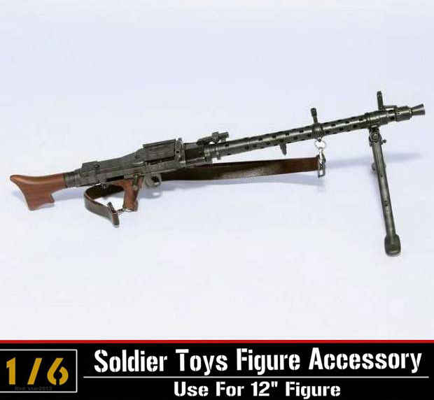 1/6 Scale Light Machine Weapons Model WWII German Maschinengewehr 34 Gun  Model Toys For 12