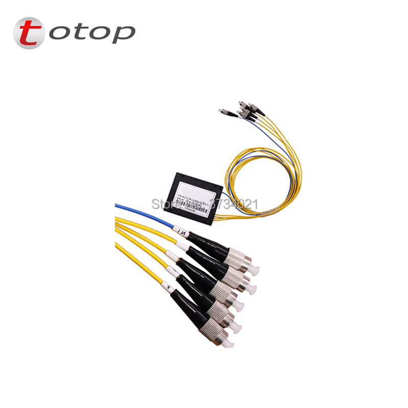 PLC Splitter ABS FC UPC 1X 4 Single mode splitter fiber optic FTTH FREE SHIPPING