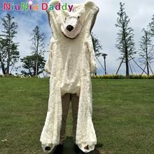 "200cm מידה גדולה של ארה""ב דובי דוב גדול עור דובי פשתן ברסקין לא מבושל הענק"