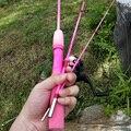 Детская приманка  Удочка 1 5 метра  3 секции  для начинающих  рыболовная удочка  в комплект входит спиннинговая катушка розового и зеленого цв...