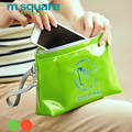 M Square Travel Cosmetic Bag Waterproof Makeup Storage Bag Wet Towel Clothes Underwear Holder For Spa Hot Spring Beach bags