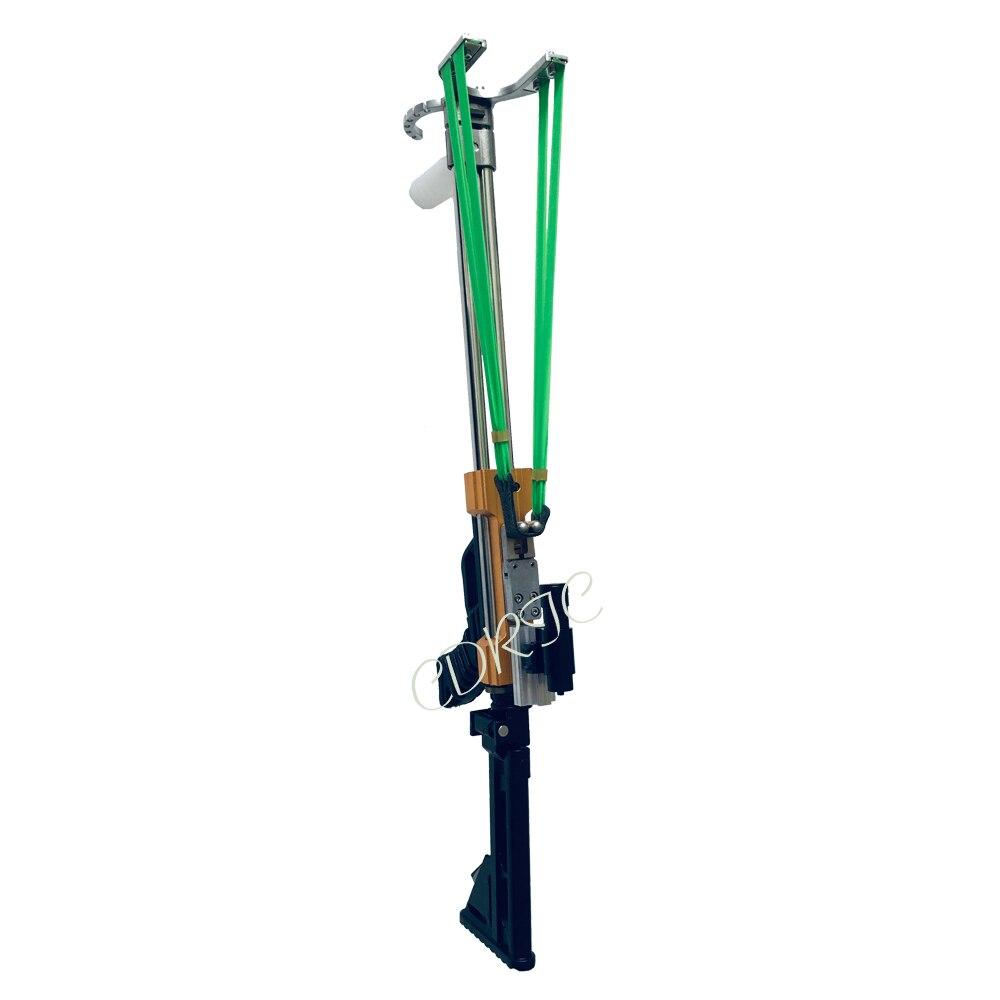 جديد Longwei بندقية المقلاع الصيد المنجنيق قوية الفولاذ مقلاع للصيد اطلاق النار شبه التلقائي استخدام السهام و 40BB