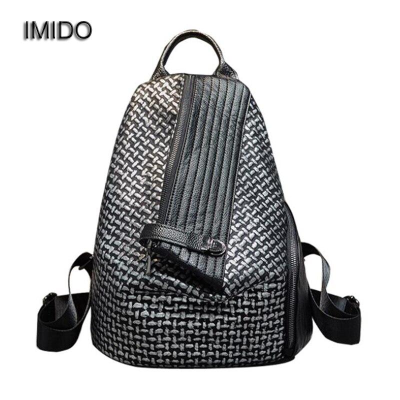 IMIDO nouvelle marque Designer femmes sac à dos en cuir lavé épaule sacs à dos pour filles sac d'école sac à dos mochila feminina SLD160