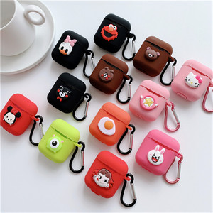 Image 1 - Cartoon animal Mickey Hello Kitty For apple airpods case Wireless Bluetooth Headset For airpods 1/2 Charging Silicone Soft Case
