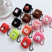 Dessin animé animal Mickey Hello Kitty pour apple airpods étui sans fil Bluetooth casque pour airpods 1/2 charge Silicone coque souple