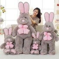 1pcs 120cm Cute American Big Rabbit Stuffed Dolls Plush Toy America Rabbit Animal With Long Ears