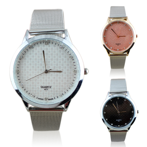 Hot Sales Luxury Silver Couple Lover Design Watch Stainless Steel Quartz Wrist Watch For Women Men New Design 5DGD 6YN4