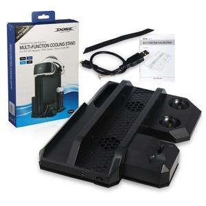 Image 5 - Многофункциональная Вертикальная охлаждающая подставка для консоли PS4 Pro/PS4 Slim/PS4 PS Move, контроллер PS4, зарядная станция, VR Держатель Витрины