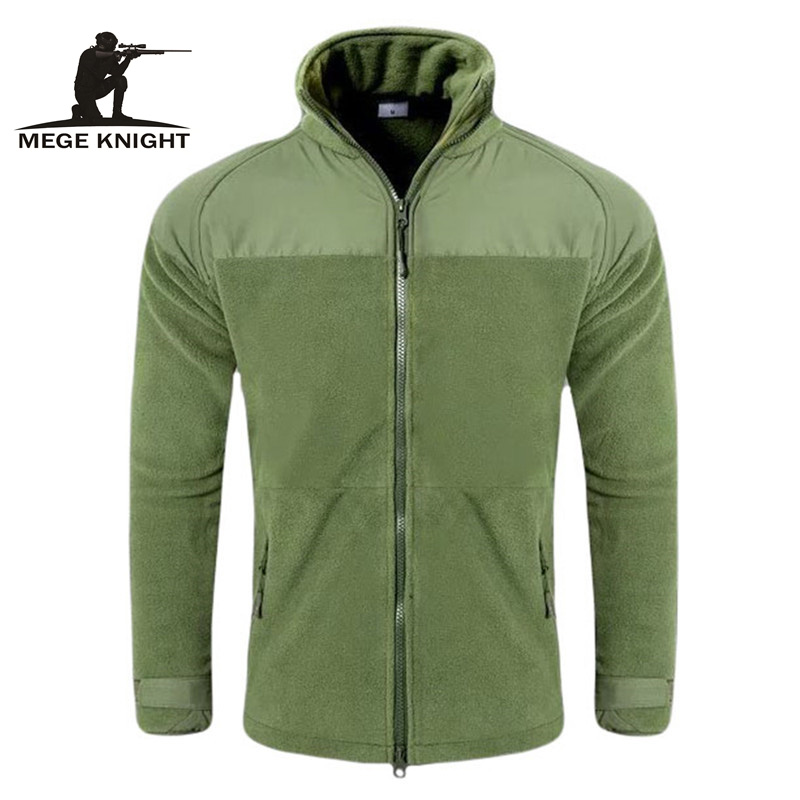 MEGE Brand Winter Tactical Soft Shell Fleece Warm P300 Jacket, Men Casual Jacket, Military Sportswear Army Fleece Thermal