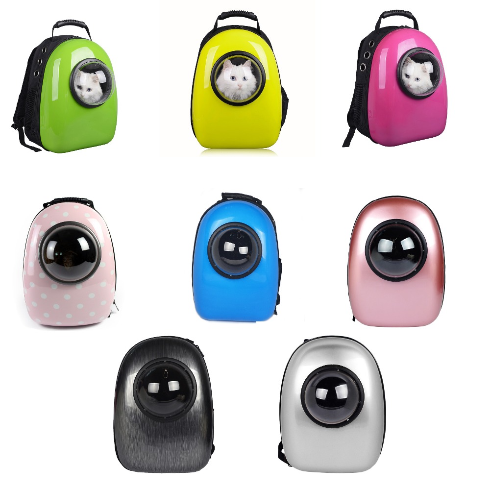 8 Colors Creative Pet Travel Carrier Space Capsule Shaped Breathable Pet Backpack Pet Dog Bags Outdoor Portable Cat Carrier Case