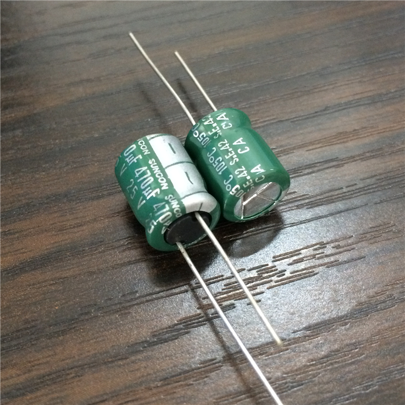 10pcs 470uF 25V SANYO SUNCON CA Series 10x12.5mm Low Impedance 25V470uF Aluminum Electrolytic Capacitor