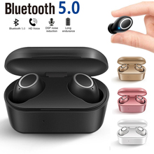 TWS D015 Wireless Bluetooth Earphone 3D Stereo Sound Earbud Wireless Touch Headset Mic With Charging Box t50 tws bluetooth headset sports touch wireless earphone 3d stereo microphone wireless earbuds charging box