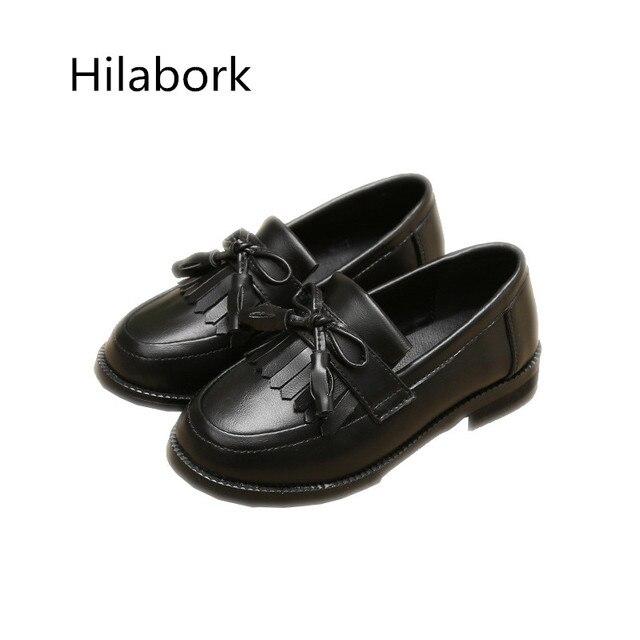 2017 весной новые дети кисточкой случайные кожа shoes девушки износ кожа anti-slip single shoes лук мальчиков leather shoes