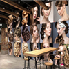 Beibehang Customize Any Size Wallpaper Fresco Photo Personality Fashion Beauty Salons Tooling Background Wall Papel De