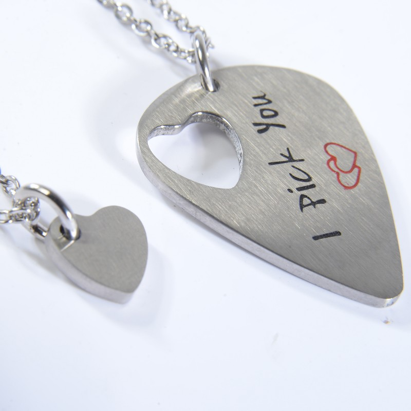 be5e8fae29 I pick you I'll pick you always relationship key chain stainless steel  guitar picks charm lover's key ring accessoriesUSD 7.59/pair