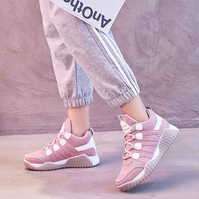 Woman Suede Shoes Brand Tenis Feminino Casual Lace Up Sneakers Fashion Flats Ladies Shoe Women\x27 S Sport Footwear New Arrivals