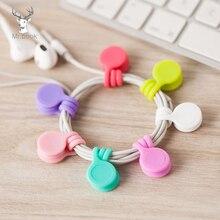 3/8pcs Cute Magnet Earphone Cable Holder Clips Korean Kawaii Stationary Cord Winder Organizer Desk Accessory Office Desk Set