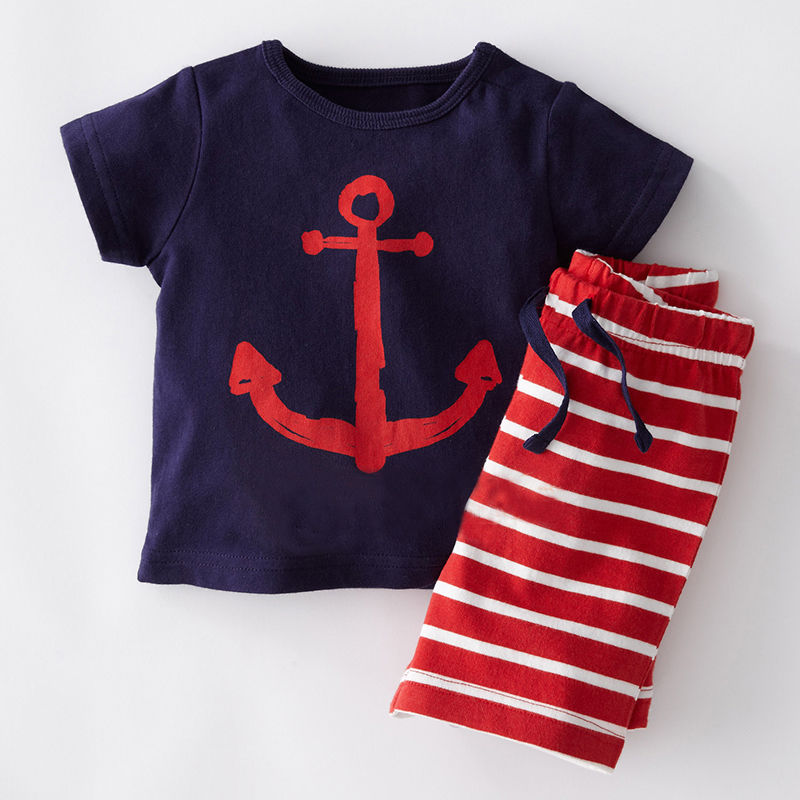 Summer Cool Baby Boy Clothes Set Toddler Kids Boys