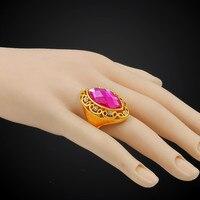 Gevuld Retro Grote Steen Ring Voor Vrouwen Mannen Sieraden Candy Oostenrijkse Crystal Ring Aneis Top Brand Luxe Sieraden Groothandel