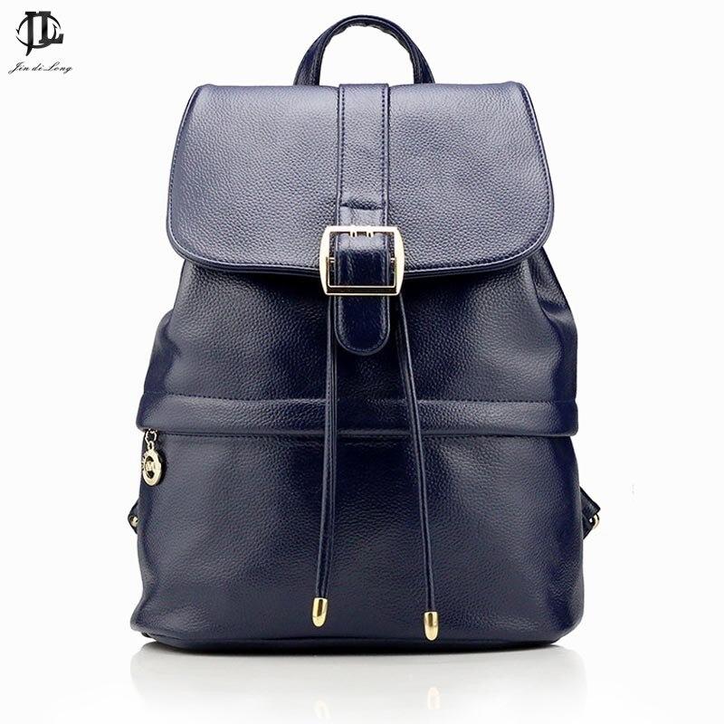 Exquisite Korea Style Women Backpack Bags Cover Hasp PU Leather Student Book Bag bolsa feminina e
