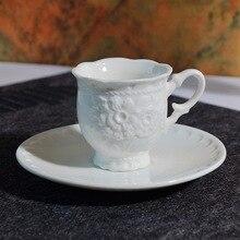 51-100ML espresso cup Italian coffee cup dish relief ceramic cup dish set small coffee cup dish tea cup set italian berlitz reference set