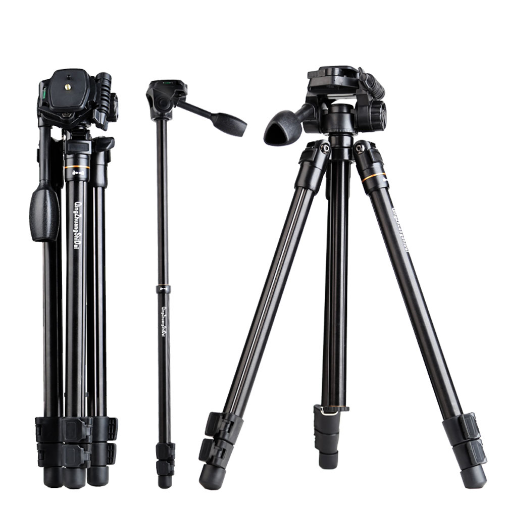 QZSD-Q109 compact voyage trépied Q109 52 ''5 kg charge pas cher caméra trépied dslr appareil photo numérique support à trépied pour smartphone