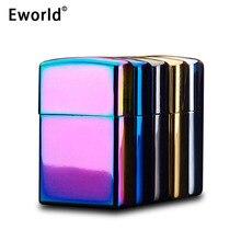 Eworld Alta Calidad Cruz Doble Arco Pulso USB Encendedores A Prueba de Viento Electrónico Excelente Chapado de Metal de Cigarrillos Encendedor De Cocina